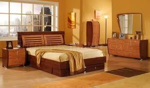 5 piece mahogany and cherry finish modern bedroom set