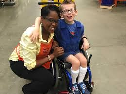 home depot worker pays for halloween costume for boy in wheelchair