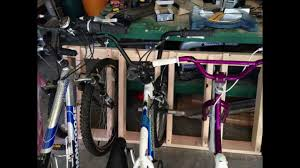 how to build a bike rack out of 2x4s for your garage youtube