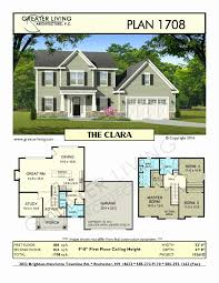 2 story house floor plan two story house floor plans unique plan 1708 the clara two story
