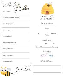 baby shower guessing a to z with a j to bee baby shower maybe we