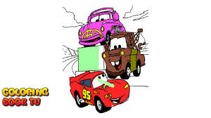 cars 2 coloring pages for kids youtube