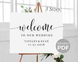 wedding welcome sign template rustic welcome sign template for wedding printable modern wedding