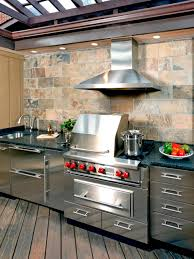 outdoor kitchen backsplash kitchen optimizing an outdoor kitchen layout hgtv backsplash