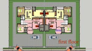 Two Family House Plans Two Bedroom Semi Detached House Plan Pinterest U2022 The World U0027s
