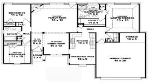 bedroom one story house plans residential house plans 4 bedrooms