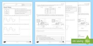 sound waves homework activity sheet homework worksheet