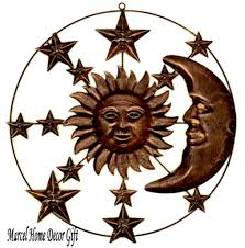 celestial home decor celestial sun and moon decor rustic vintage celestial wall art