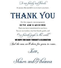 thank yous on wedding programs wedding thank you sayings gallery of search wedding program