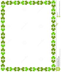 8 best images of printable shamrock border free printable