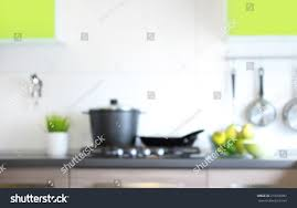 blurred kitchen interior background stock photo 219018097