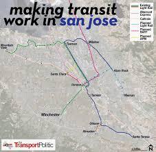 san jose light rail map san jose plots a renewal of its struggling light rail network the