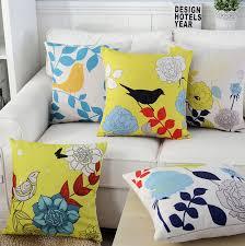 design kissenbez ge pop vogel pflanze blume kissenbezüge geschenk werfen massager