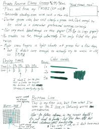little green light reviews first ink review private reserve ebony green ink reviews the