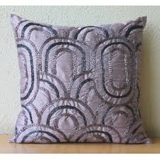 handmade purple accent pillows lattice trellis pattern beaded