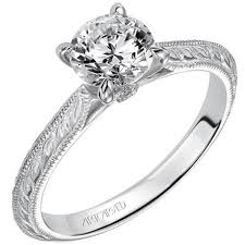 diamond engraved rings images Artcarved quot imani quot diamond solitaire engagement ring jpg