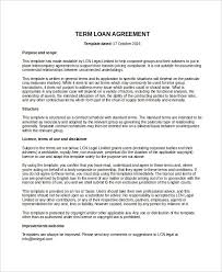 loan agreement template 14 free word pdf document download