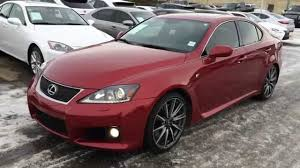 lexus isf texas pre owned red on black 2011 lexus is f series 2 package review