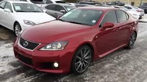 lexus is 2011 pre owned red on black 2011 lexus is f series 2 package review