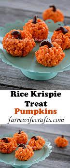 pumpkin rice krispie treats the farmwife crafts