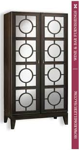 Mirrored Storage Cabinet 695154 Howard Miller Black Coffee Ring Panel Doors Mirrored Wine