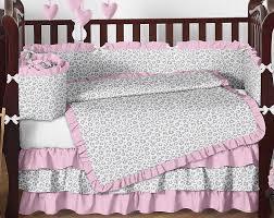 Cheetah Print Crib Bedding Set Kenya Pink And Gray Animal Print Baby Bedding 9 Pc Crib Set
