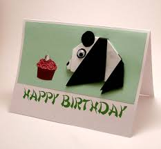 How To Make Origami Greeting Cards - origami birthday card with keyword card design ideas