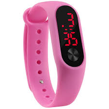 silicone bracelet watches images Fashion outdoor simple sports red led digital bracelet watch men jpg