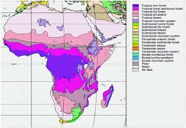 africa map climate zones chapter 12 africa ecological zones
