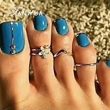 toe finger rings images 2018 sexy finger foot jewelry boho chic silver color with jpg