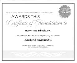 Certification Approval Letter Www Homesteadschools Com Homestead Ceus Educational Programs