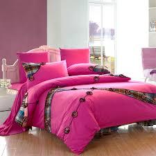 pink girls plaid ruffle bowtie floral queen size duvet cover