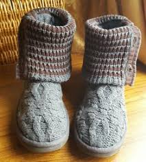 womens grey boots size 9 ugg s leland cotton wool blend knit grey boots size 7 5 uk