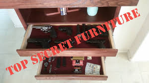 gun concealment bookcase with secret hidden compartment by top