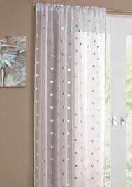 Shabby Chic Voile Curtains by Heart White Panel Net Voile Slot Top Tyrone Shop By Brand