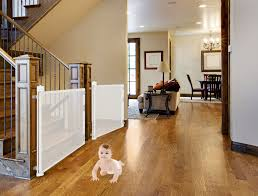 Baby Gate For Top Of Stairs With Banister And Wall Retract A Gate For Your Baby U2022 Stairs U0026 Safety Certified