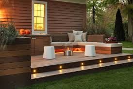 Small Patio Fire Pit Creative Small Outdoor Patio With Wooden Deck And Fire Pit Braai