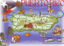 Puerto Rico United States Map by My World In Written And Stamped Postcards Puerto Rico Map
