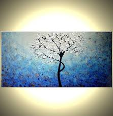 original abstract modern landscape made buy a custom made original abstract white cherry blossom tree