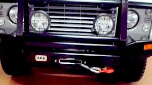 land rover australian land rover defender australian arb bull bar and winch bumper youtube