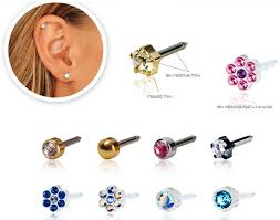 blomdahl earrings baby piercing