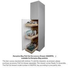 kitchen pantry cabinet oak hton assembled 18x84x24 in pantry kitchen cabinet in medium oak
