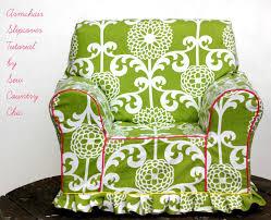 green chair slipcover armchair slipcover tutorial