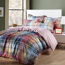 Plaid Bed Sets Rainbow Plaid And Striped King Size Bedding Sets Bedding Sets