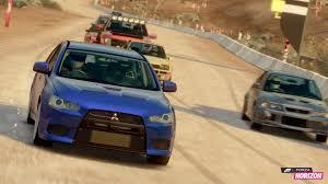 mitsubishi eclipse yellow mitsubishi cars during a race in forza horizon wallpaper game