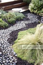 garden with river rock landscaping with river rocks photos garden