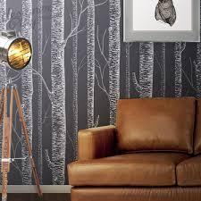 birch tree on dark grey background peel u0026 stick wallpaper