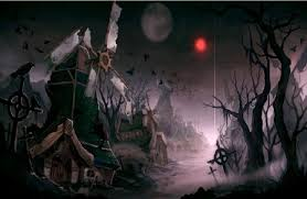 spooky town spooky town abstract background wallpapers on desktop