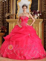 sweet fifteen dresses coral sweet 16 dress strapless organza appliques gown