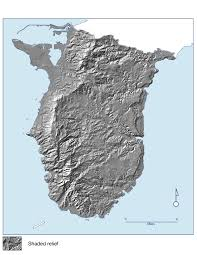 Map Of Guam Large Detailed Relief Map Of Southern Guam Southern Guam Large